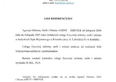 List Ref. Sad Rej. w Krasniku